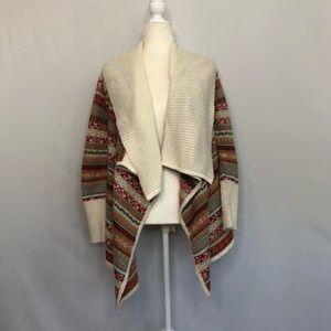 Kensie multicolor boho knit cardigan women's small